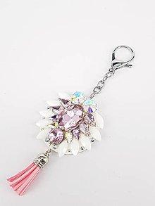 Kľúčenky - Luxusný prívesok STOUN na kabelku - Ružová - 8636792_