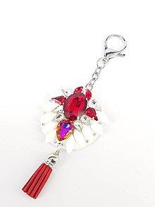 Kľúčenky - Luxusný prívesok STOUN na kabelku - Výrazná červená - 8636802_