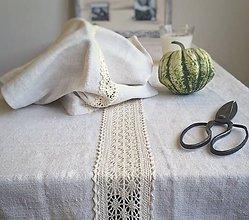 Úžitkový textil - Pravý vidiecky obrus - 8634730_