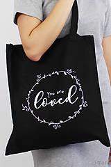 Nákupné tašky - Taška čierna LOVED - 8634035_
