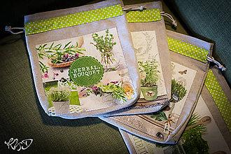 Úžitkový textil - Vrecká na bylinky No.15 - 8639422_