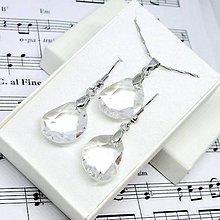 Sady šperkov - Swarovski Rhodium Plated Crystal Set / Set šperkov Swarovski transparentná, rhodium - 8639705_