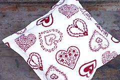 Úžitkový textil - Obliečka na vankúš srdiečková - 8639793_