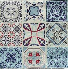 Papier - S1075 - Servítky - vzor, ornamenty, orient, obkladačky, dlaždice - 8637990_