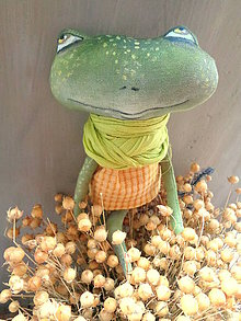 Bábiky - Žabička- se šálkou - 8638670_