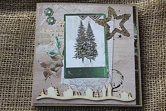 """Papiernictvo - Vianočná pohľadnica """"Zelené Vianoce 1"""" - 8639178_"""
