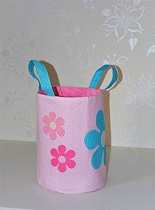 Detské tašky - Textilný kôš na hračky - 8637198_