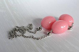 Náhrdelníky - Náhrdelník Ružové olivy (2267 A CHO) - 8638623_