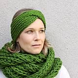 Čiapky - turbančelen najsamkrajšia zelená - 8638968_