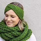 Čiapky - turbančelen najsamkrajšia zelená - 8638970_