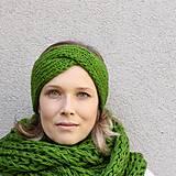 Čiapky - turbančelen najsamkrajšia zelená - 8638973_