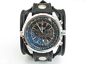 aeb4e41ce Náramky - Pánske štýlové hodinky, čierny antialergický remienok - 8640065_