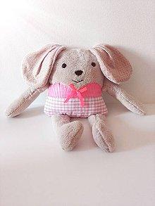 Hračky - Psík béžovo-ružový - 8638324_