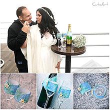 Nádoby - Sada svadobných pohárov - plesnivec alpínsky (2 ks) - 8637390_