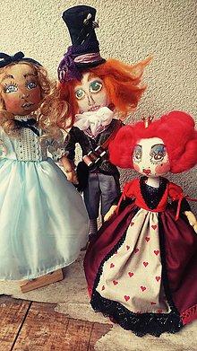 Hračky - Alica, klobučník a srdcová kráľovná - 8638829_