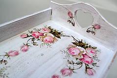 - Podnos vintage ružičky - 8637925_