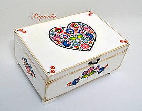Krabičky - Folková veľká šperkovnica - 8636951_