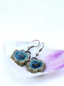 Náušnice - náušnice modrý kvet - 8638179_