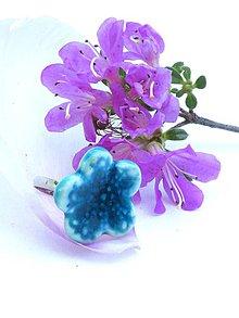 Prstene - prsteň modrý kvet - 8638210_