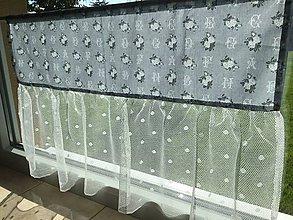 Úžitkový textil - Záclonka Romantická - 8641523_