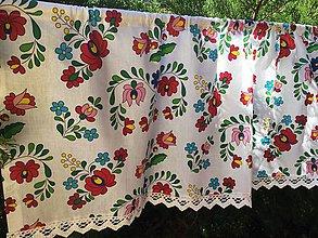 Úžitkový textil - Záclonka Folk - 8641563_