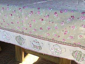 Úžitkový textil - Romantický obrus do kuchýňe - 8641590_