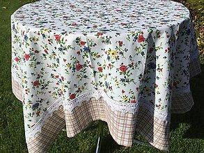 Úžitkový textil - Obrus Lúčne kvietky - 8641609_