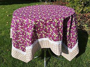 Úžitkový textil - Obrus do fialová - 8641632_