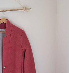 Kabáty - boyfriend coat terakotový - 8642259_