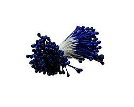 Polotovary - 3. Tmavo-modré piestiky, 1bal/80ks - 8642870_