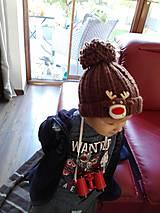 Detské čiapky - Detská čiapka so sobíkom - 8643520_