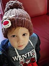 Detské čiapky - Detská čiapka so sobíkom - 8643527_