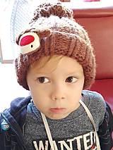 Detské čiapky - Detská čiapka so sobíkom - 8643531_