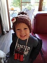 Detské čiapky - Detská čiapka so sobíkom - 8643537_