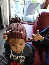 Detské čiapky - Detská čiapka so sobíkom - 8643540_