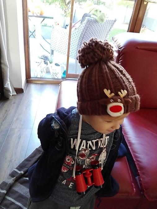 Detská čiapka so sobíkom