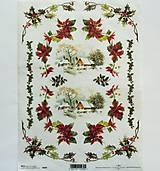 - Ryžové papiere na decoupage A4 - R446, Vianoce, domček - 8640631_