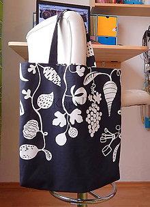 Nákupné tašky - Nákupná taška - Čierno-biela úroda :) - 8641311_