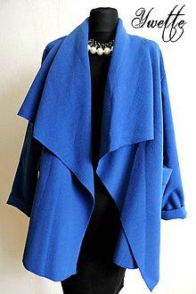 Kabáty - YWETTE: modrý kabátik - 8641401_