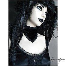 Náhrdelníky - Gotická sametová šatka - 8641605_