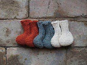 Topánočky - Detské papučky alpaka 0 - 6 m - 8640339_
