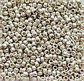 Korálky - TOHO R8/0 PF558 Permanent Finish - Galvanized Aluminium/ 10g - 8643452_