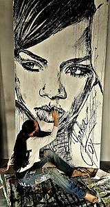 Obrazy - RIHANNA -pop art obraz - 8641805_