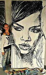 Obrazy - RIHANNA -pop art obraz - 8641824_