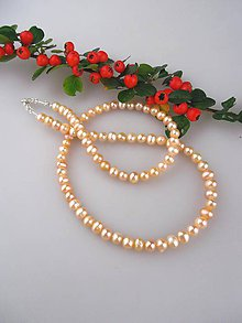 Náhrdelníky - Perly pravé náhrdelník , zapínanie striebro Ag925/1000 - 8641486_