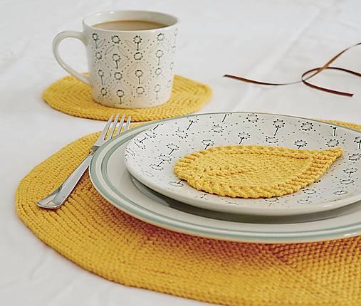 Úžitkový textil - Pletená okrúhla podložka - malá - 8641720_