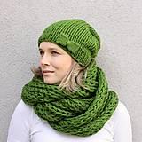 Čiapky - setík najsamkrajší zelený - 8642996_