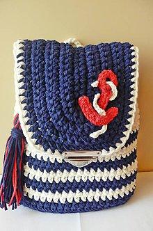 Detské tašky - Batoh pre malého námorníka - námorníčku - 8642133_