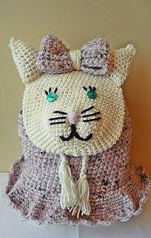 Detské tašky - Detský batôžtek mačička - 8642149_