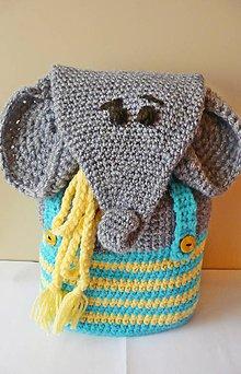 Detské tašky - Detský batoh - sloník - 8642199_